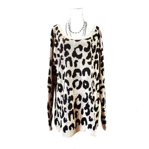 Charlotte Russe Leopard Print Sweater